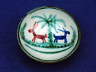Vintage? Italy Pottery Small Bowl with Hand Painted Pair of Donkeys?