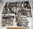 Antique Vintage Lot 182 Pcs Mixed USA Silverplate Flatware Crafts Jewelry 13lbs!