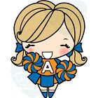 CHEER ANYA The Greeting Farm Rubber Stamp Stamping Craft Cheerleader RETIRED
