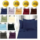 1500 Thread Count Sheet Set Dobby Stripe FULLQUEENKINGCAL KING SIZE 10 COLORS