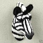 ZEBRA HEAD Fur Magnets Handcrafted  Hand paintedCollectable