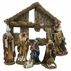 Kurt Adler 6 Inch 7 Piece Resin Nativity Set with Stable and 6 Figures New Fre