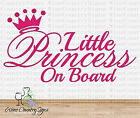 Baby Girl Daughter Princess On Board Vinyl Car Wall Decal Sticker READY TO SHIP