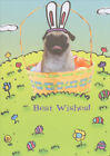 Easter Puggy Recycled Paper Greetings Funny Dog Easter Card