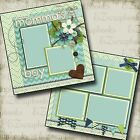 MOMMAS BOY 2 Premade Scrapbook Pages EZ Layout 248