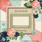 BABY GIRL FIRST BREATH Premade Scrapbook Pages EZ Layout 700