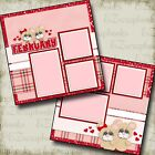 FEBRUARY 2 Premade Scrapbook Pages EZ Layout 357