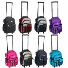 Everest Deluxe Wheel Backpack Rolling 18 Carry on Travel Luggage Travel Bag