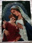 A Completed DIY Cross Stitch Kit Mary The Mother Of God And Her Son Jesus