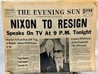 1974 Newspapers - Nixon Resignation - Lot of 2