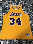 SHAQUILLE ONEAL SHAQ VTG CHAMPION JERSEY AUTHENTIC SIZE 48 LOS ANGELES LAKERS