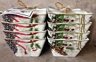 222 Fifth HOLIDAY WISHES CHRISTMAS CARDINAL POINSETTIA Appetizer Dessert Bowls 8