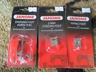 3 Janome sewing machine feet darning, piping and 3-way