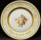 Warrin Dinner Plate Flowers with Gold Trim