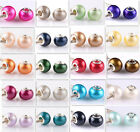 HOT 20pcs silver pearl big hole spacer beads fit Charm European Bracelet DIY