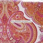 MOROCCAN PAISLEY FLORAL KING QUILT 3PC YELLOW RED ORANGE WHITE  REVERSES