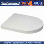EUROSHOWERS D SHAPED SOFT CLOSE QUICK RELEASE BUTTON WHITE NO SLIP TOILET SEAT