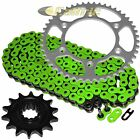 Green O-Ring Drive Chain & Sprocket Kit for Husaberg Fe400E 2000 2001 2002 2003