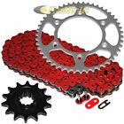Red O-Ring Drive Chain & Sprocket Kit for Husaberg Fe400E 2000 2001 2002 2003