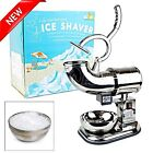 Commercial Ice Shaver Powerful Electric Machine Snow Cone Maker Shaved Crusher