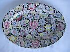 Japanese Porcelain Ware Flowered Platter Decorated in Hong Kong ~ 14
