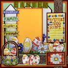 EASTER FUN 2 Premade Scrapbook Pages EZ Layout 683