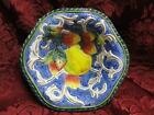 Fitz & Floyd Florentine Fruit, Blue: Fruit / Dessert Bowl, 6 1/8