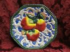 Fitz & Floyd Florentine Fruit, Blue: Apples Canape Plate 9