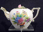 HEREND QUEEN VICTORIA TEAPOT,FOR TWO TEA CUPS ,ROSE LID END,BRAND NEW BOXED
