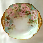 SMALL AND LOVELY ANTIQUE GOLD ENCRUSTED ARTIST SIGNED HAND PAINTED CANDY DISH