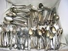 200+ Pc Lot Assorted Vtg Silver Plated Flatware Craft Jewelry 18 Lbs Box B