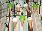 Vintage Lot x2 Ice Cream Blow Mold Patio Lights,Camping Lights,Ice Cream Stores