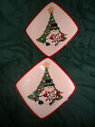 2 Fitz & Floyd CHEERS Square Snack Plate 8.5