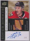 14-15 UD Premier Jonathan Toews Super Rookie Throwback Gold Patch Auto #1 5