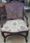 French Provincial Cane Back Armchair