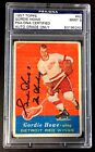 GORDIE HOWE SIGNED 1957 TOPPS DETROIT RED WINGS CARD #42 PSA DNA AUTO MINT 9