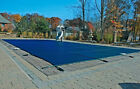 20x40 Rectangle Swimming Pool Winter Safety Cover Blue Mesh 12 YR w 4x8 Step