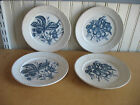 MELLOR TAYLOR Staffordshire China MARIAN 4 Flow Blue Strawberry Cherry plates