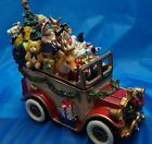 2003 FITZ & FLOYD SANTA MOBILE MUSICAL VINTAGE CAR  WISH YOU A MERRY CHRISTMAS
