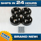 Wheel Spacers Adapters 4x100 38mm thick for 4 lug cb 60.1 4pc 12x1.5 studs black