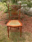 FANCY 8 SPINDLE VICTORIAN CANE SEAT CHAIR FURNITURE HOME DECORATIVE ARTS