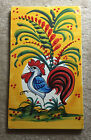 COSIMO PRIMO Hand Painted Wall Plaque - Multicolor Rooster - Made in Italy