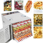1000W 10-Tray Commercial Food Dehydrator Durable Fruit Veg Sausage Herbs Dryer