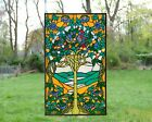 20 x 34 Large Tiffany Style stained glass window panel Tree of Life