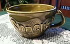 Vintage McCoy Snack Bowl Green - Shaped as Large Serving Cup #7521 Rare
