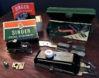 Vintage Singer ZigZag And Buttonholer Attachments. Complete Sets With Manuals.