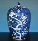 FINE LARGE ANTIQUE CHINESE BLUE AND WHITE PORCELAIN JAR MARKED RARE C4792