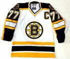 RAY BOURQUE STARTER AUTHENTIC BOSTON BRUINS WHITE JERSEY SIZE 46