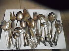 HUGE LOT 110 Pieces Vintage Antique SILVERPLATE FLATWARE Crafts Jewelry  Resell