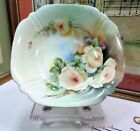 VOGT LIMOGES HAND PAINTED ROSES SCALLOP RIM 9 1/2